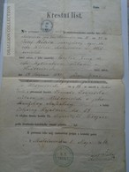 ZA181.12 Old Document - Czechia  - Mysločovice - 1866 - Cecilia (1841) Brezno -  Jozef WECERA - Naissance & Baptême