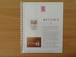 Kunstblad. Nr. 1907 Wetteren.   Nederlandstalige Uitgifte. - Cartes Souvenir
