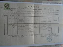 ZA181.13 Old Document - Hungary -SÁRI - Pest Vm. - Judith (1841) Lepsinyi - Perger - 1870 - Naissance & Baptême