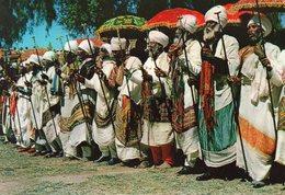 ETHIOPIA PRIEST CELEBRATING EASTER AZUM CARTE PHOTO - Ethiopie