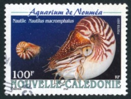 NOUV.-CALEDONIE 2001 - Yv. 842 Obl.  - Mollusque Nautile (Aquarium De Nouméa)  ..Réf.NCE24537 - Usados