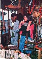 ETHIOPIA VISITOR SHOPPING IN ADDIS ABABA' S MARKET CARTE PHOTO - Ethiopie