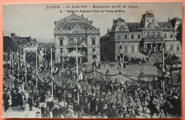CARTE AUTUN - 30 AOUT 1919 - RECEPTION DU 29ème DE LIGNE - N° 6 -SCAN RECTO/VERSO -10 - Autun