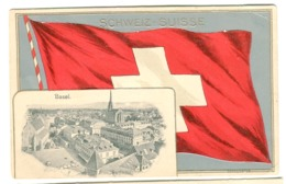 Basel - Panorama Auf Weiße Kreuz FAHNE FLAG FLAGGE DRAPEAU 1928 - BS Basel-Stadt