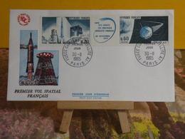 Premier Vol Spatial Français - Paris - 30.11.1965 FDC 1er Jour  - Coté 2€ - 1960-1969