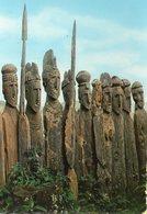 ETHIOPIA SCULPTURED WOODEN TOMBSTONES GEMU GOFA PROVINCE CARTE PHOTO - Ethiopie