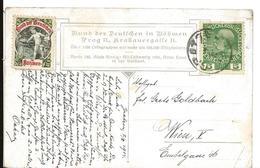 Erinnophilie Allemagne Vignette BUND DER DEUTSCHEN IN BÖHMEN Sur Cpa Autriche 1914 ...G - Commemorative Labels