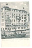 Basel - Schraubendampfer Justitia Vor Anker 24.-26 August PROBEFAHRT Strassburg-Basel Um 1905 - BS Bâle-Ville