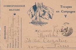 """CP  FM """"Aux 4 Drapeaux"""" Troupes En Campagne - écrite Par Un Soldat De La Légion étrangère. - 1. Weltkrieg 1914-1918"""