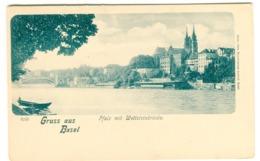 Basel - Pfalz Mit Wettsteinbrücke Gruss Aus Basel 9243 - BS Basel-Stadt