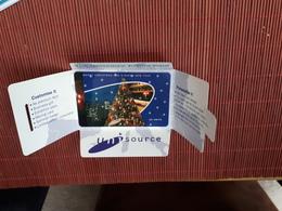 Christmas Phonecard Uni Source With Folder (Mint,Neuve) 2 Scans  Very Rare - Noel