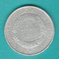 Brazil - 2000 Réis - 1900 - 400th Anniversary Of The Discovery Of Brazil - KM501 - (c. 25grs; 37mm) - Brésil