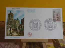 C.N.P. La Cathédrale De Bourges - 18 Bourges - 5.6.1965 FDC 1er Jour - Coté 3€ - 1960-1969