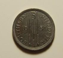 Southern Rhodesia 3 Pence 1951 Varnished - Rhodésie
