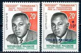 MADAGASCAR 1960** - Presidente Tsiranana - 2 Val. MNH, Come Da Scansione. - Madagascar (1960-...)