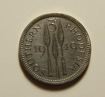 Southern Rhodesia 3 Pence 1949 Varnished - Rhodésie
