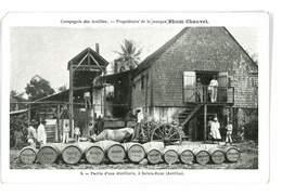 CPA MARTINIQUE PUB RHUM CHAUVET COMPAGNIE DES ANTILLES PARTIE D'UNE DISTILLERIE A SAINTE-ROSE - Martinique