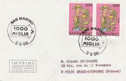 San Marino : T. à D. Commémoratif / TP Représentant ADAM Prêt à Croquer Le Fruit Défendu ! - Lettres & Documents