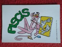 SPAIN 1989 CROMO OLD COLLECTIBLE CARD PEGATINA ADHESIVO STICHER LA PANTERA ROSA THE PINK PANTER ASTON PISCIS HOROSCOPE - Sin Clasificación