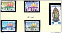 SAN MARINO 1977 International Stamp Exhibition Complete Set Of 5 Stamps Unmounted Mint - San Marino