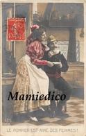"""1908 Série: """"LE POMPIER EST AIME DES FEMMES"""" 5 CP Ayant Voyagé ( Dont 1 Double) - 5 - 99 Postcards"""