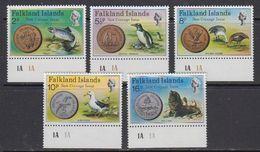 Falkland Islands 1975 New Coinage 5v (+margin) ** Mnh (41764D) - Falklandeilanden