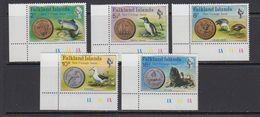 Falkland Islands 1975 New Coinage 5v (corners) ** Mnh (41764E) - Falklandeilanden
