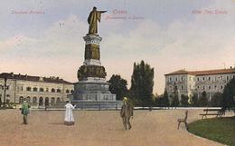 TRENTO  - STAZIONE FERROVIARIA- HOTEL IMPERATORE - MON. A DANTE  - 1909 - Trento