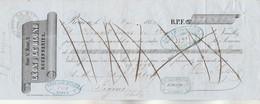Lettre Change Illustrée 26/5/1854 LEON & LE BLOND Rouenneries ROUEN Seine Maritime - Alriq Figeac Lot - Lettres De Change