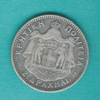 Crete - George I (Geórgios) - 1901 - 2 Drachmai - KM8 - Griekenland