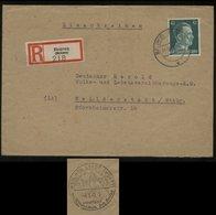 WW II R - Briefumschlag: Gebraucht Mit 42 Pfg Hitler Briefmarke EF Beuron - Weil Der Stadt ,Sonderstempel Astronom Kep - Briefe U. Dokumente