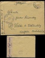 WW II Feldpost Briefumschlag Generalgouvernement , GG , Polen Mit OKW Zensurstreifen: Gebraucht Mit  Haus Bristol Zako - Deutschland