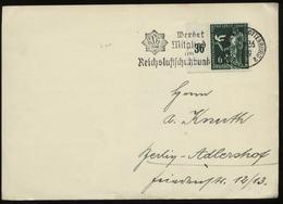 WW II Postkarte : Gebraucht Mit Luftschutz Werbestempel Berlin 1936, Bedarfserhaltung. - Deutschland