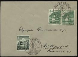 WW II Briefumschlag: Gebraucht Mit WHW Briefmarken Und Sonderstempel Strassburg Im Elsaß - Stuttgart 1941 - Deutschland