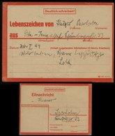 WW II Postkarte : Lebenszeichen Nr. 5431432D ,gebraucht Berlin Tempelhof - Iserlohn 1944 , Bedarfserhaltung. - Deutschland