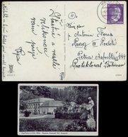 WW II Postkarte Bad Freienwalde , Reservelazarett 102: Gebraucht Wrietzen - Böhmen 1944  , Datum 4.4.44, Bedarfserhalt - Allemagne