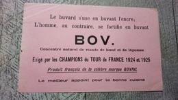 Buvard Bov Concentré  Viande De Boeuf  Légumes Exigé Par Les Champions Du Tour De France 1924  Cyclisme Vélo  Sport - Transport