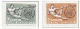 NB - [150123][1231/32] Belgique 1962, DROITS DE L'HOMME, Inspiré D'une ?uvre De Michel-Ange, ONU, SNC - Timbres