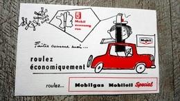 Buvard Mobil Mobilgas Mobiloil Spécial Automobile Roulez économique - Transport
