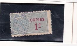 T.F De Copies N°22 - Fiscaux