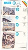 ANDORRA  ENTIER POSTAL/GANZSACHE/POSTAL STATIONERY LOT DE 8 CARTES - Andorre Espagnol