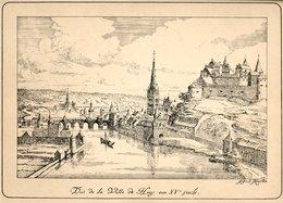Vue De Huy Au XVe Siècle Gravée En... 1913 - Prints & Engravings