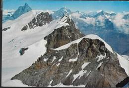 MONTE ROSA - PANORAMA DAL CASTORE - VIAGGIATA 1972 - Alpinisme