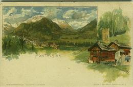 SWITZERLAND - PONTRESINA - G. GIACOMETTI - SERIE I DAS OBER ENGADIN N. 3 - 1900s ( BG2306) - GR Grisons