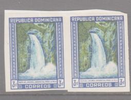 DOMINICAN REP - WATERFLLS 3C IMPERF PAIR UNUSED NO GUM - Dominican Republic