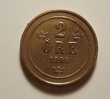 Sweden 2 Ore 1896 Varnished - Sweden