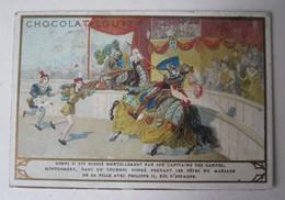 CHROMO CHOCOLAT TAPIOCA LOUIT HENRI II BLESSE MORTELLEMENT PAR MONTGOMERY - Louit
