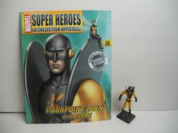 FIGURINE EAGLEMOSS MARVEL POURPOINT JAUNE ET LA GUEPE  N° 58 AVEC FASCICULE SANS BOITE - Marvel Heroes