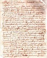 JEAN-CHARLES DUCHEMIN Sieur Du MOTTEY ..Document  Deux Pages Manuscrites.signées 1705. - Handtekening