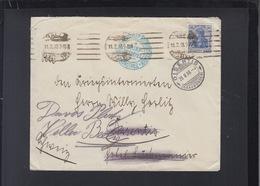 Dt. Reich Brief 1918 Halle Nach Schweiz Zensur - Germania